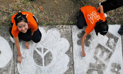 CHALK4PEACE/WALK 4 PEACE '10 Miriam College Grade School, Quezon City, Philippines