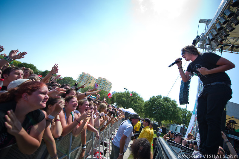 Ronnie Winter of The Red Jumpsuit Apparatus performs on May 28, 2011 during 97X Backyard BBQ at Vinoy Park in St. Petersburg, Florida