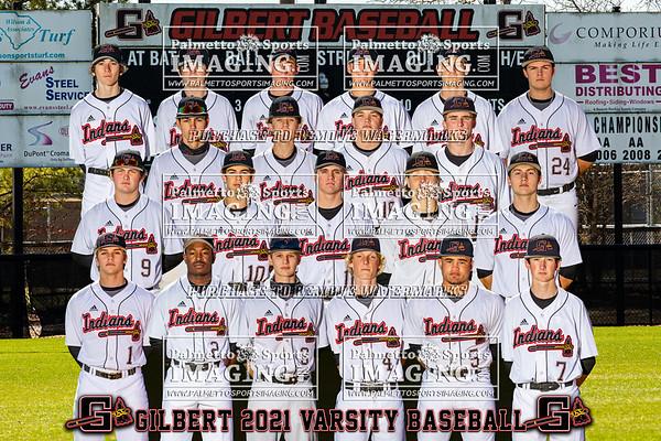 2021 Gilbert Varsity Baseball Team and Individuals