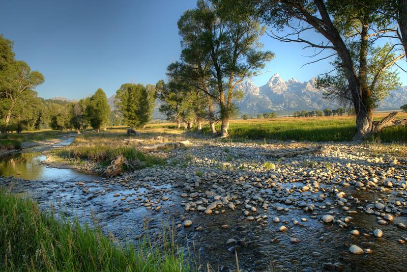 Ditch Creek in Antelope Flats - Grand Teton National Park - Wyoming