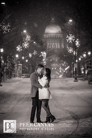 Josselyn and Ryan Madison Winter Engagement