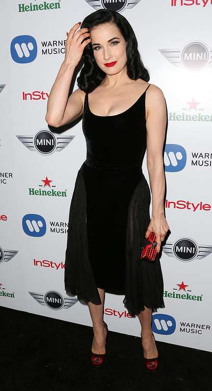 . Dancer Dita Von Tesse attends Warner Music Group\'s 2013 Grammy Celebration at Chateau Marmont\'s Bar Marmont on February 10, 2013 in Hollywood, California.  (Photo by Frederick M. Brown/Getty Images)