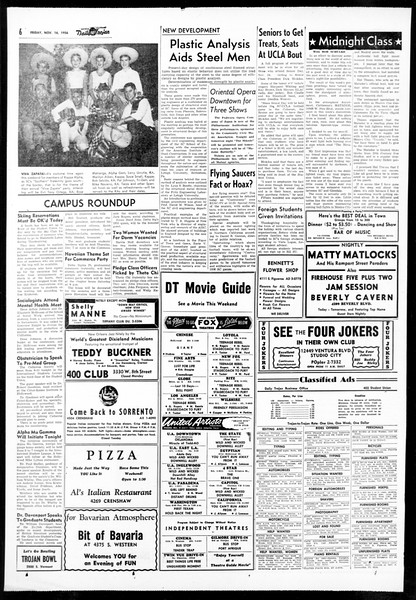 Daily Trojan, Vol. 48, No. 41, November 16, 1956