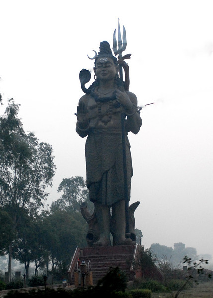 A giant statue in the middle of nowhere.