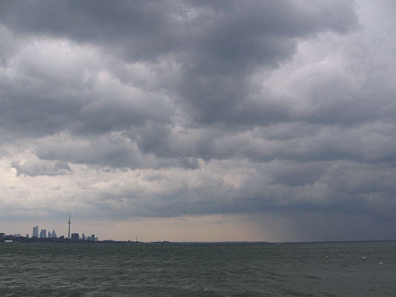 Rain over Lake Ontario