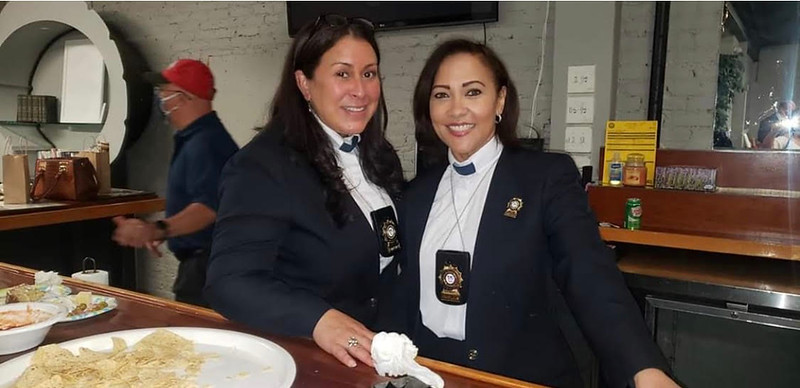 Newly ordained chaplains Michelle Rivera and Leslie Vidal