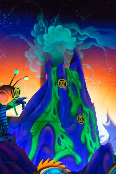 Buzz Lightyear Volcano - Magic Kingdom Walt Disney World