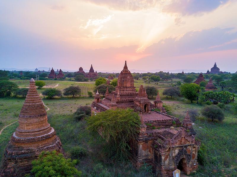 Sunset Storm in Bagan