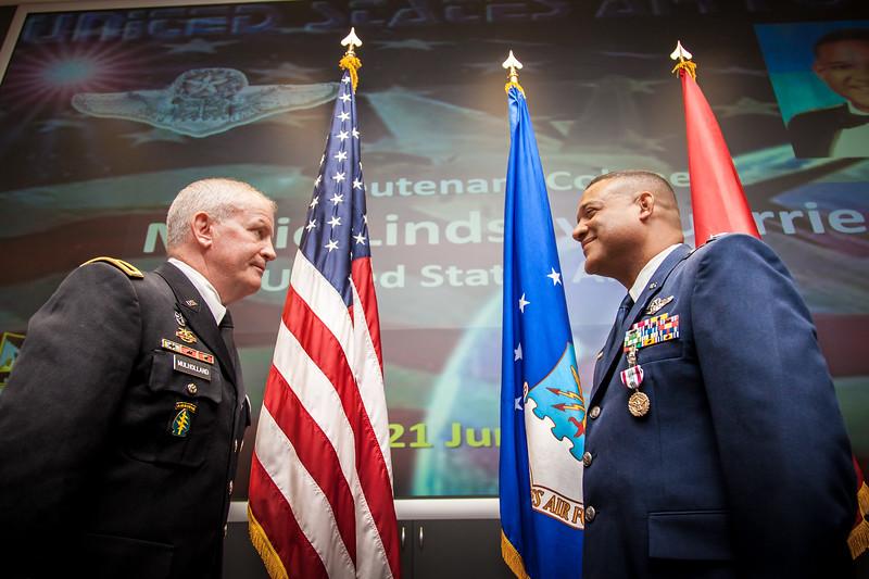 Lt. Colonel Mario Guerrier, USAF Ceremony