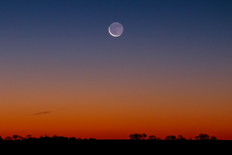Sunrise Cresent Moon