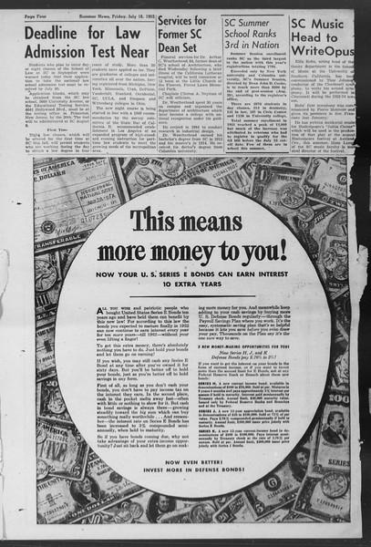 Summer News, Vol. 7, No. 7, July 18, 1952
