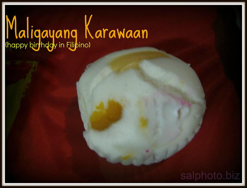 Maligayang Karawaan (Happy Birthday in Filipino)..http://holidays.goodnewseverybody.com/birthdays.html  originally from http://salphotobiz.smugmug.com/Food/Asian-Filipino-Food/26766835_dhLBfG#!i=2544760397&k=LHZh4KF