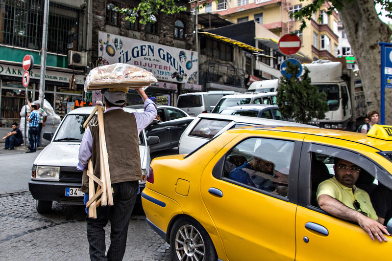 The usual traffic jam in Istanbul.