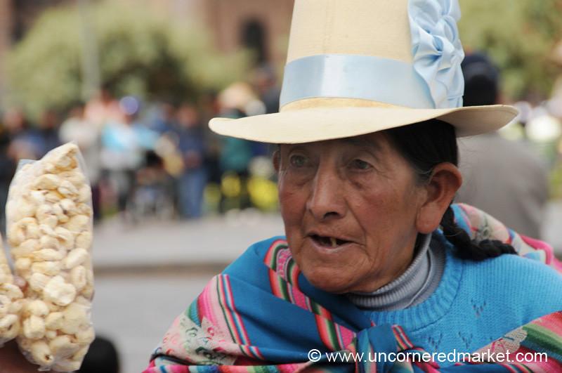 Selling Snacks - Cusco, Peru