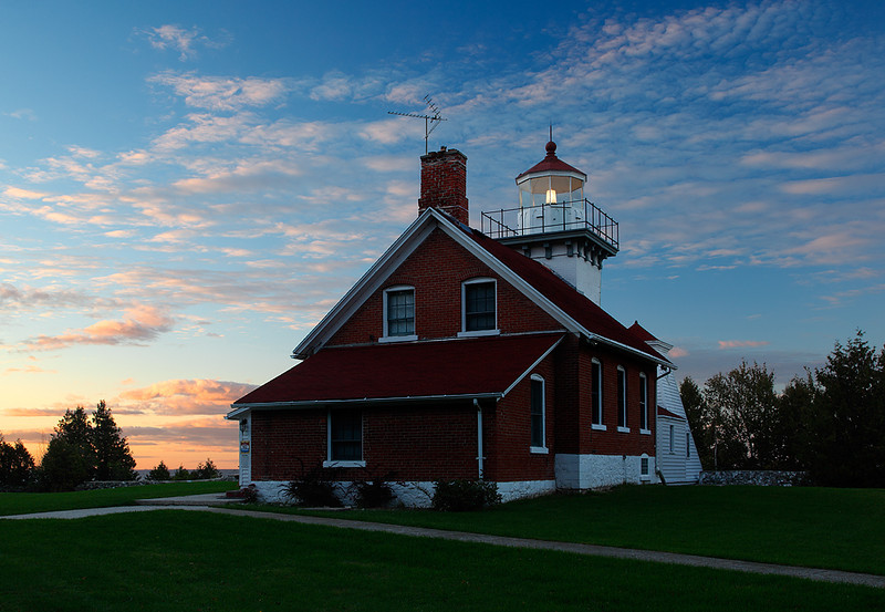 Drifting Light - Sherwood Point Lighthouse (Door County - Wisconsin)