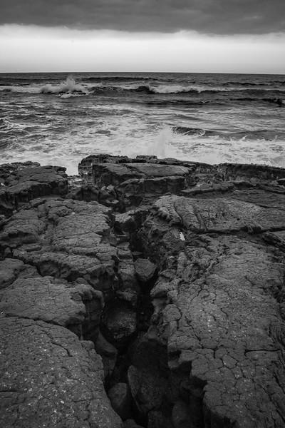 A storm rolls in at Punalu'u Beach