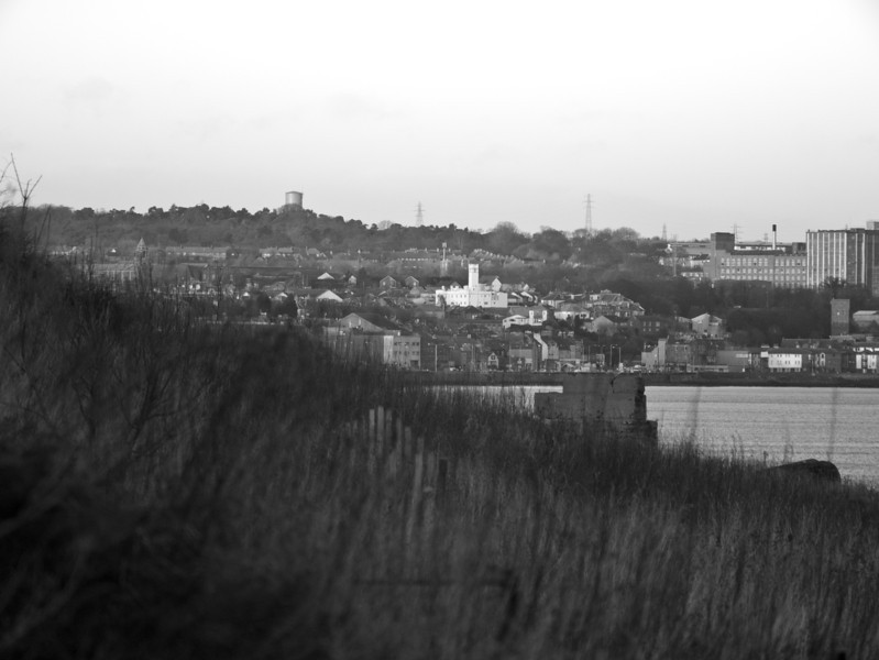 Full zoom of Kirkcaldy in black and white