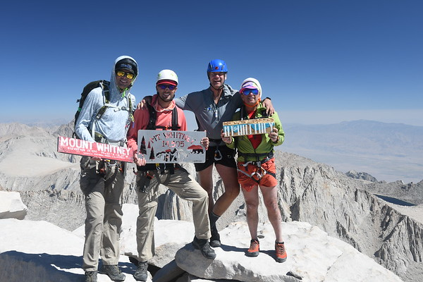 Mt. Whitney Mountaineers Route Aug 10, 2021