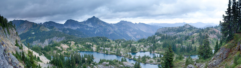 Rampart Lakes Panorama