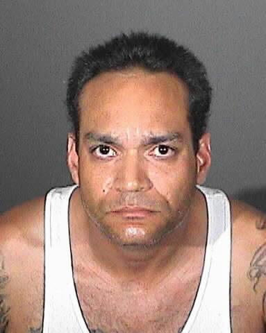 . Frank Vales, 38, of Rowland Heights is was arrested Friday, June 1, 2012, on suspicion of shooting at his apartment manager\'s home with a shotgun the previous day. (Courtesy of the Los Angeles County Sheriff\'s Department)