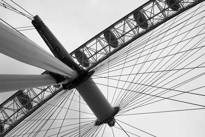 The line at the London Eye was short due to rain and wind