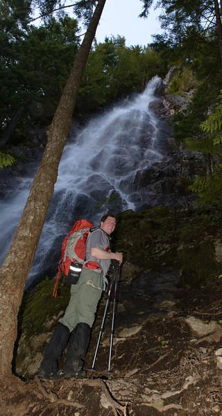Jim viewing the falls.