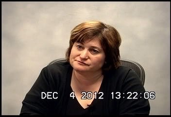. Brentwood teacher Dina Holder gives a deposition in her child abuse case. (Courtesy of Law Office of Hinton, Alfert and Kahn)