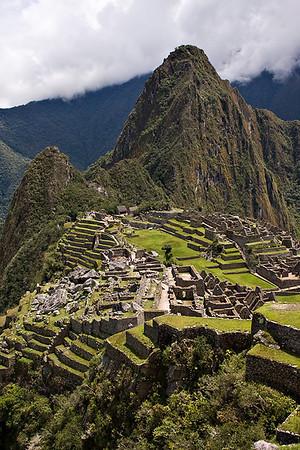 Machu Picchu with Huayna Picchu in the background  Peru - March 2009