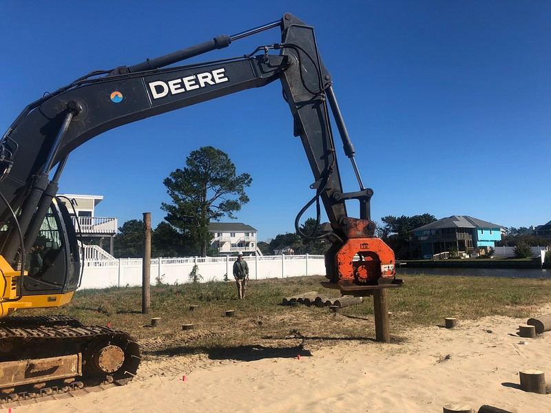 NPK C6C compactor on Deere 225 - Sandbridge Marine in Virginia Beach  10-18 (13).jpg