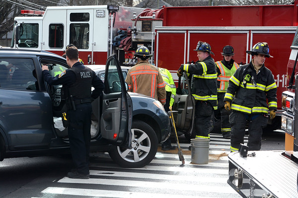 3/29/2019 Mike Orazzi | Staff The scene of a two-vehicle crash at the intersection of Willis and South Streets in Bristol Friday afternoon. Multiple people were transported from the scene to Bristol Hospital.