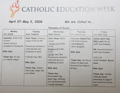 Catholic Education Week 2008 at Bishop Belleau School