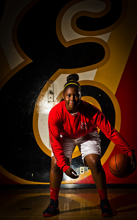. Amy Okonkwo of Etiwanda High School has been named to The Sun\'s All-Valley Girl\'s Basketball First Team. Okonkwo is also the player of the year. Thomas Cordova/Staff photographer