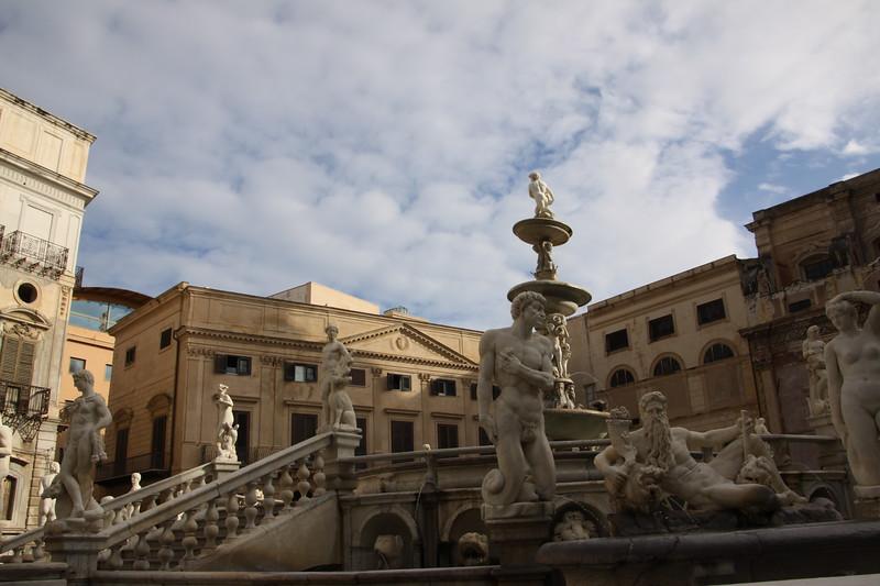 Fontana Pretoria or Fountain of Shame Palermo