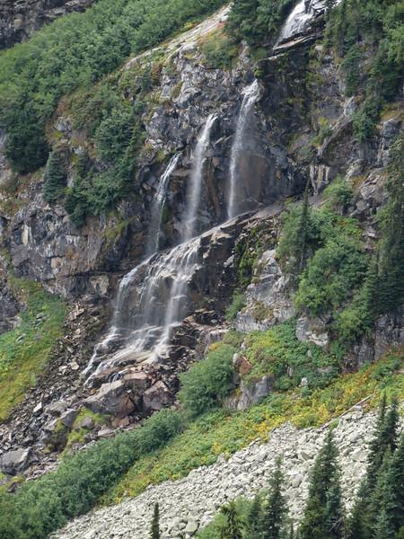 A triple waterfall.