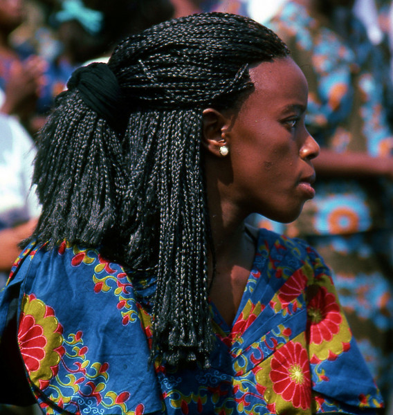 Young woman in Gabon, West Africa.