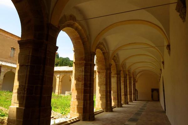 Lagresse Town & Abbey, France