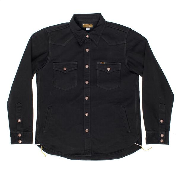 IHSH-166 - Superblack 12oz Selvedge Denim CPO Style Western Shirt-6219.jpg