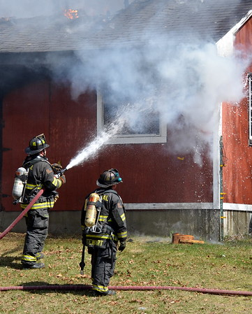 Plainfield Ct. Barn fire. 04-16-15