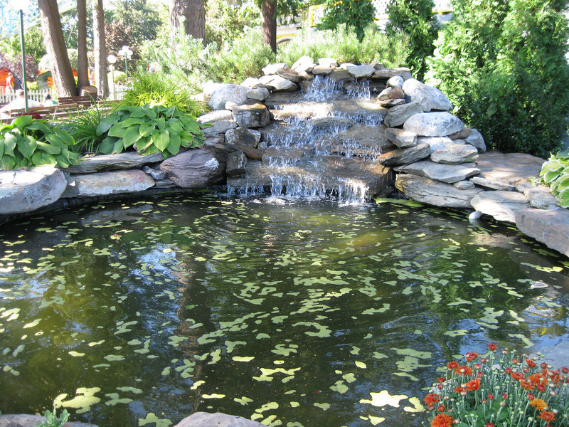 A water feature in the park.