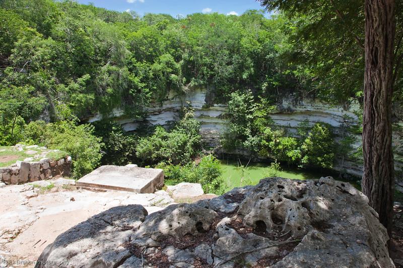 A cenote at Chichen Itza, Mexico.