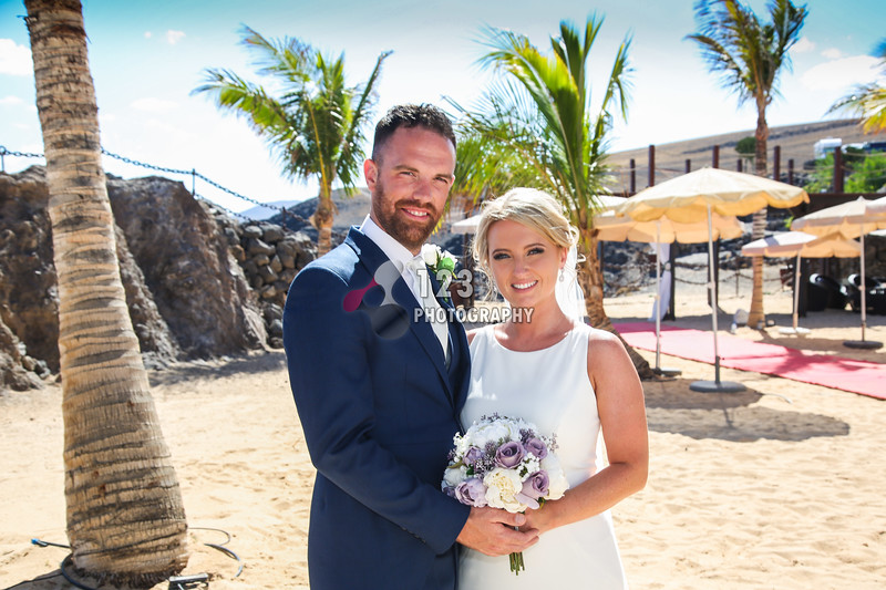 Louise and Gary's wedding photography Lanzarote Hesperia and Amura