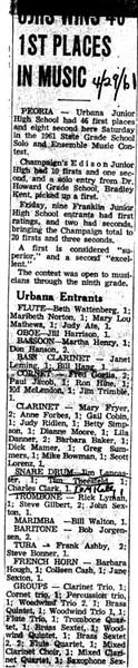 Music Contest 1961