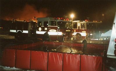 Louvires Pile Fire 12-6-00
