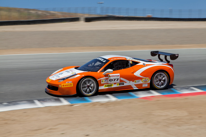 Robert Herjavec in the #077 Ferrari 458 EVO. © 2014 Victor Varela