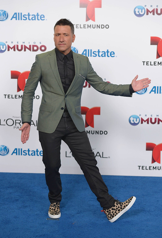 . MIAMI, FL - AUGUST 15:  Jorge Bernal arrives for Telemundo\'s Premios Tu Mundo Awards at American Airlines Arena on August 15, 2013 in Miami, Florida.  (Photo by Gustavo Caballero/Getty Images)