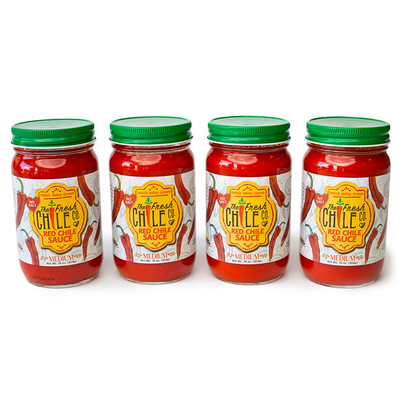 Fresh Chile Company - Hatch Valley Grown - 16 oz Jar - No Salt Red Sauce - Set.jpg