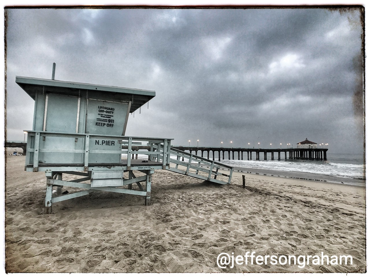 Lifeguard station and Pier
