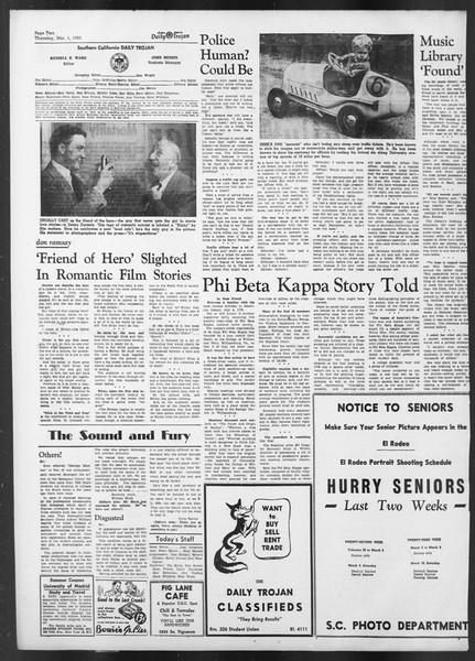 Daily Trojan, Vol. 42, No. 82, March 01, 1951