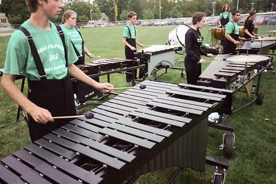 September 22, 2012: NMHS Band and Guard at Brien McMahon