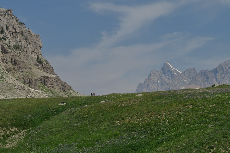 Approaching Mount Meek Pass